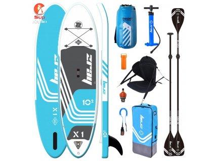 Kombo pack paddleboard ZRAY X1 komplet Neon dry bagem