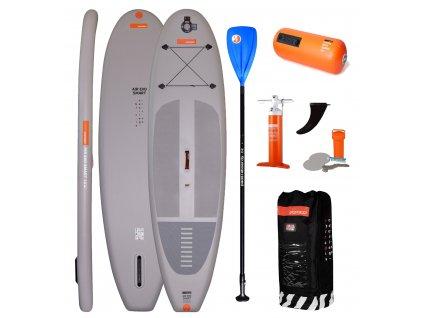 nafukovací paddleboard RRD Smart s pádlem SUP Karlín modrým