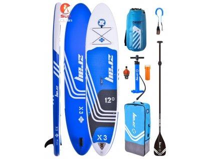 Kombo pack paddleboard ZRAY X3 bez sedáku s Neon dry bagem web