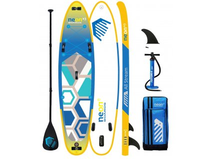 X3 All Stream 11'4 fins 2 +1 with paddle Neon Alu web