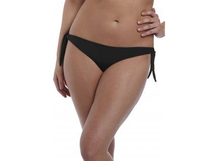 Black Italian Tie Side Bikini Brief