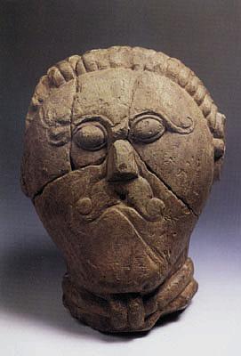 Keltská hlava. Hlava kelta. Kamenná busta druida. Nález z Mšeckých Žehrovic. PAGANIA.CZ - pohanský obchod