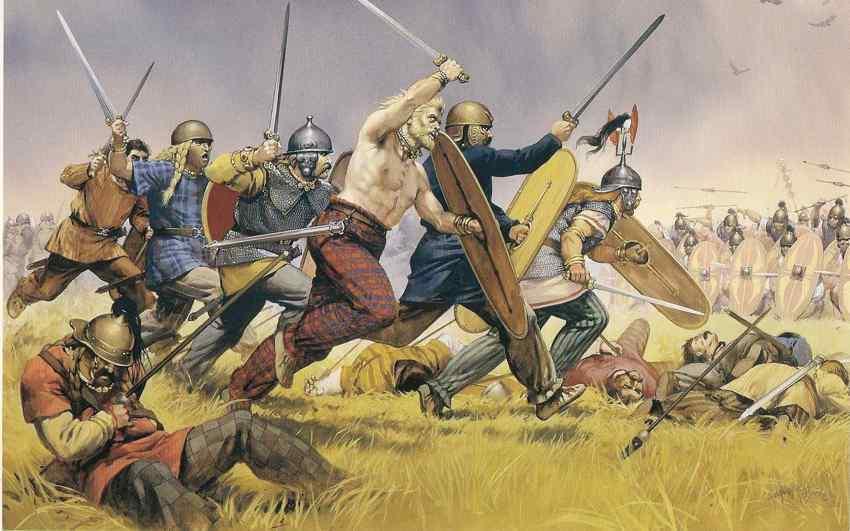 Keltská válka a boj. Divoký útok keltských kmenů. Keltský šerm. PAGANIA.CZ - pohanský obchod