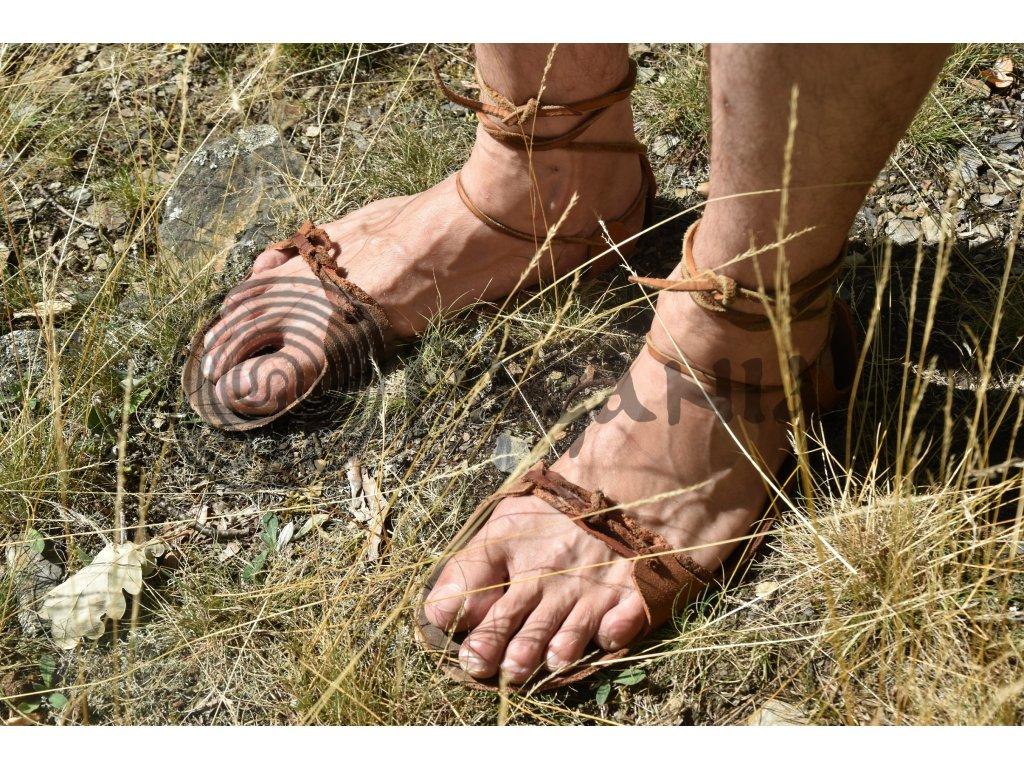 Přírodní chůze a barefoot obuv. Letní sandály pro zdravý a přirozený pohyb. Vikingské sandály Jutland. PAGANIA.CZ - pohanský obchod