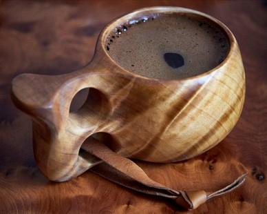 Dřevěný hrnek na nápoje a pití. Vikingská kuksa. PAGANIA.CZ - pohanský obchod
