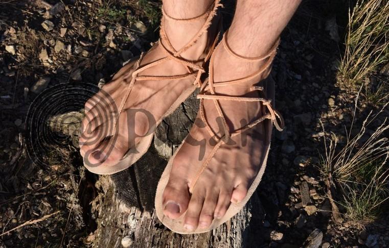 Barefoot sandály na běhání. Přírodní kožené letní boty. PAGANIA.CZ - pohanský obchod