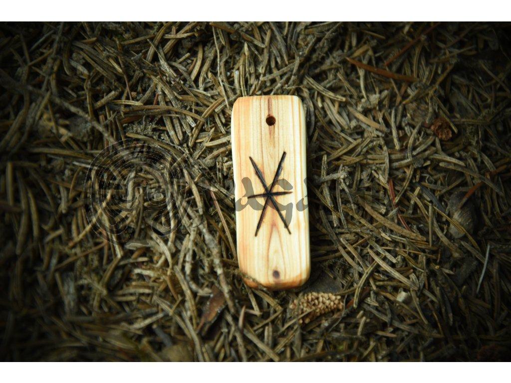 Germánská runa gebo - posvátný runový symbol. Ondřejský kříž.