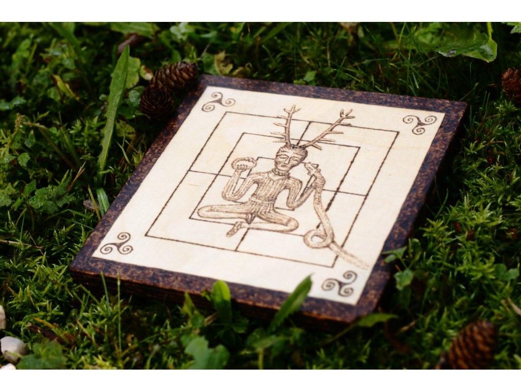 Keltská hra Mlýn s motivem boha Cernunna. PAGANIA Viking Workshops