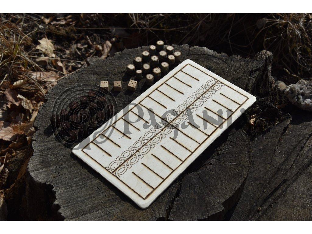 Vikingská desková hra Kvatrutafl Forseti