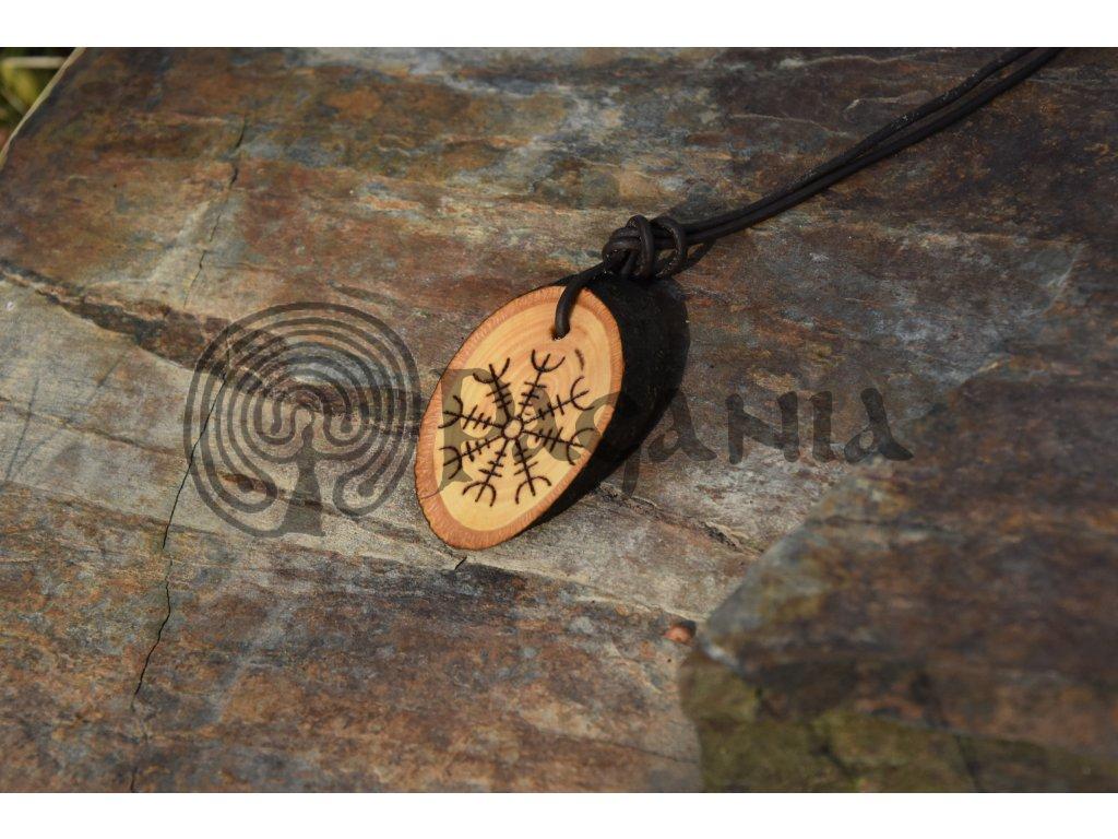 Vikingský bitevní amulet Aegishjalmur