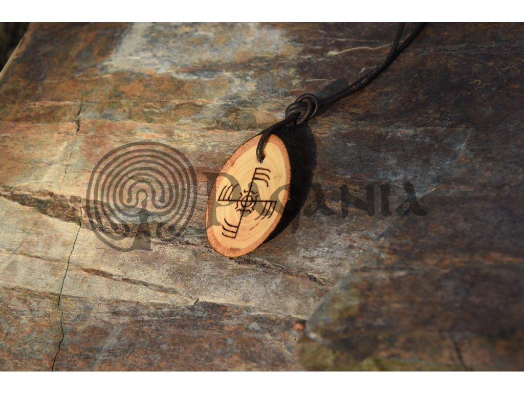 Vikingský bojový amulet Ginfaxi