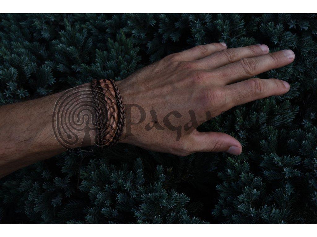 Luxusní keltský kožený náramek Epona