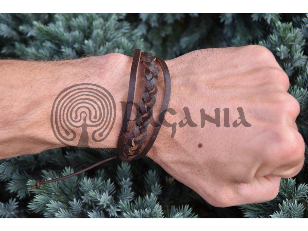 Keltský kožený náramek Agara