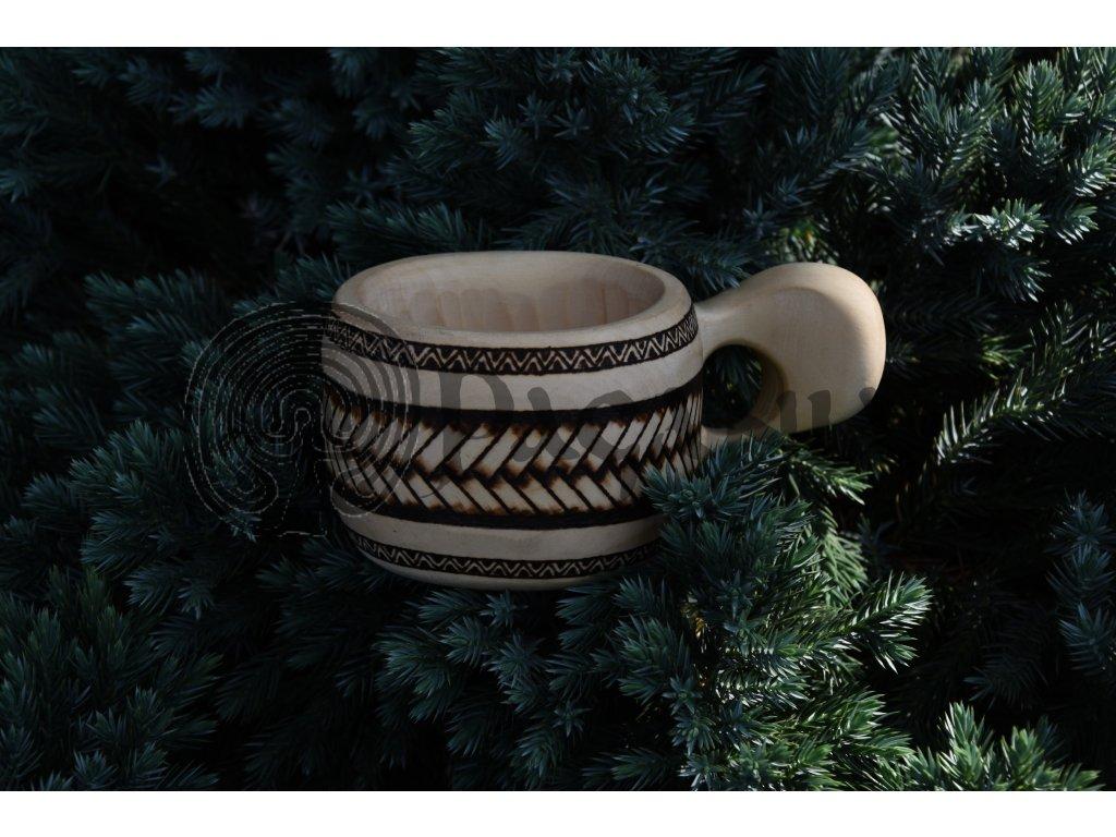 Dřevěná kuksa guksa Skandinávie