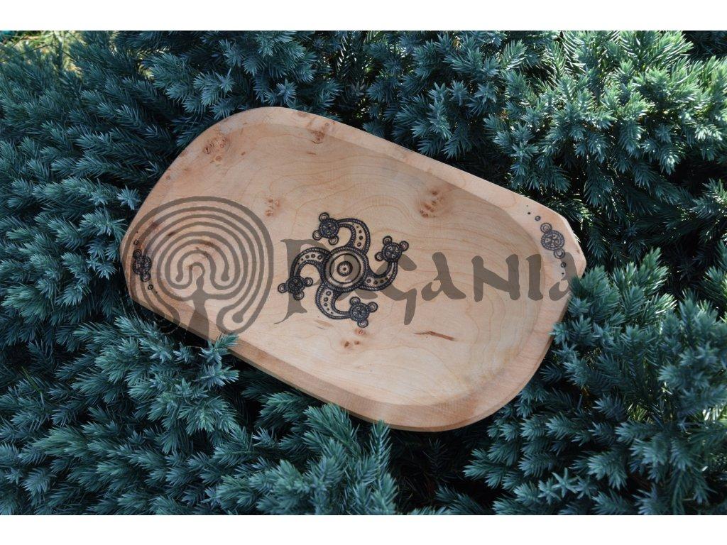 Dřevěná miska ručně zdobená Dácie Thrax Spartacus
