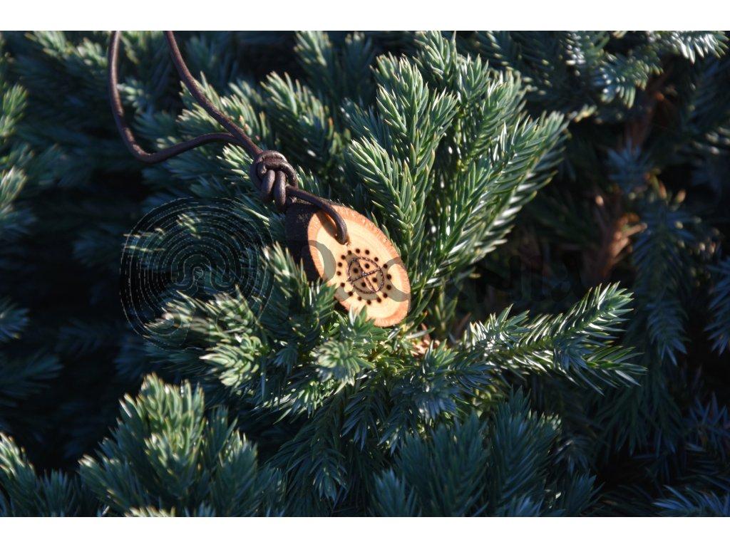 Dřevěný amulet pohanské slunce Tanum