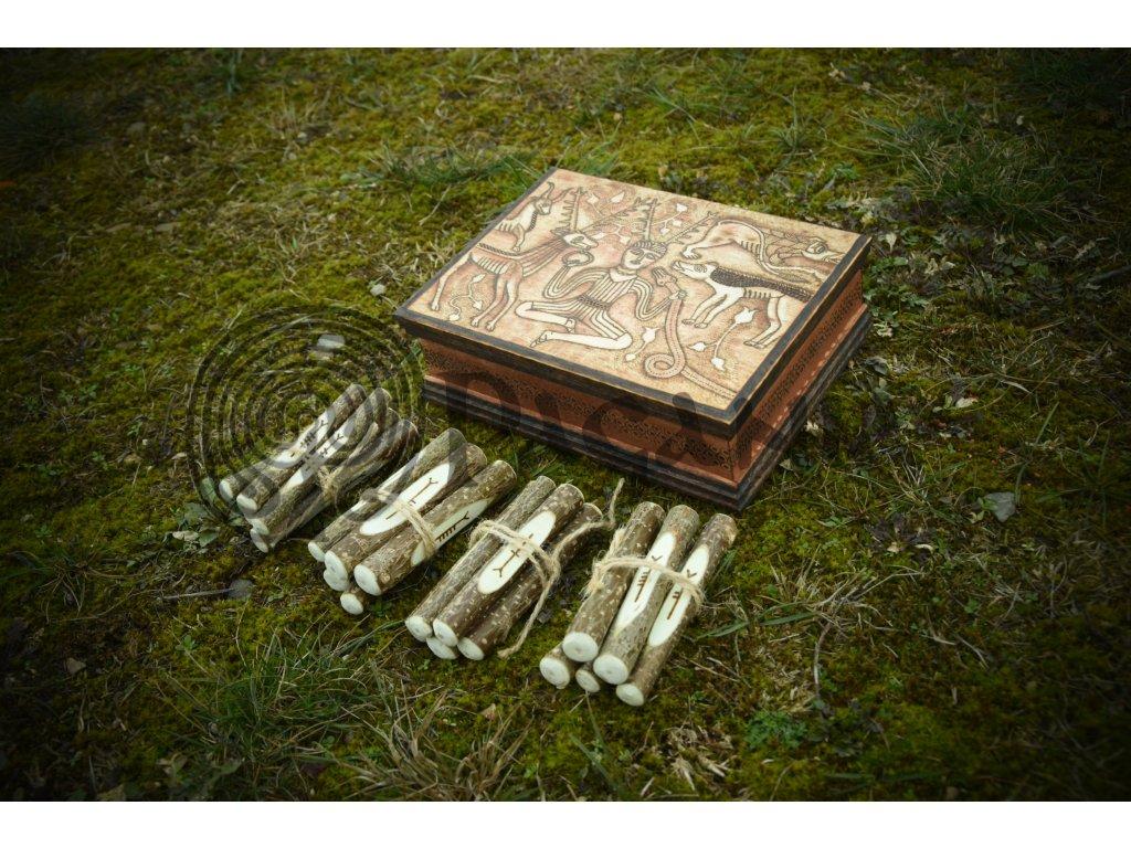 Keltská sada pro věštění a přírodní magii. Stromové písmo ogham.