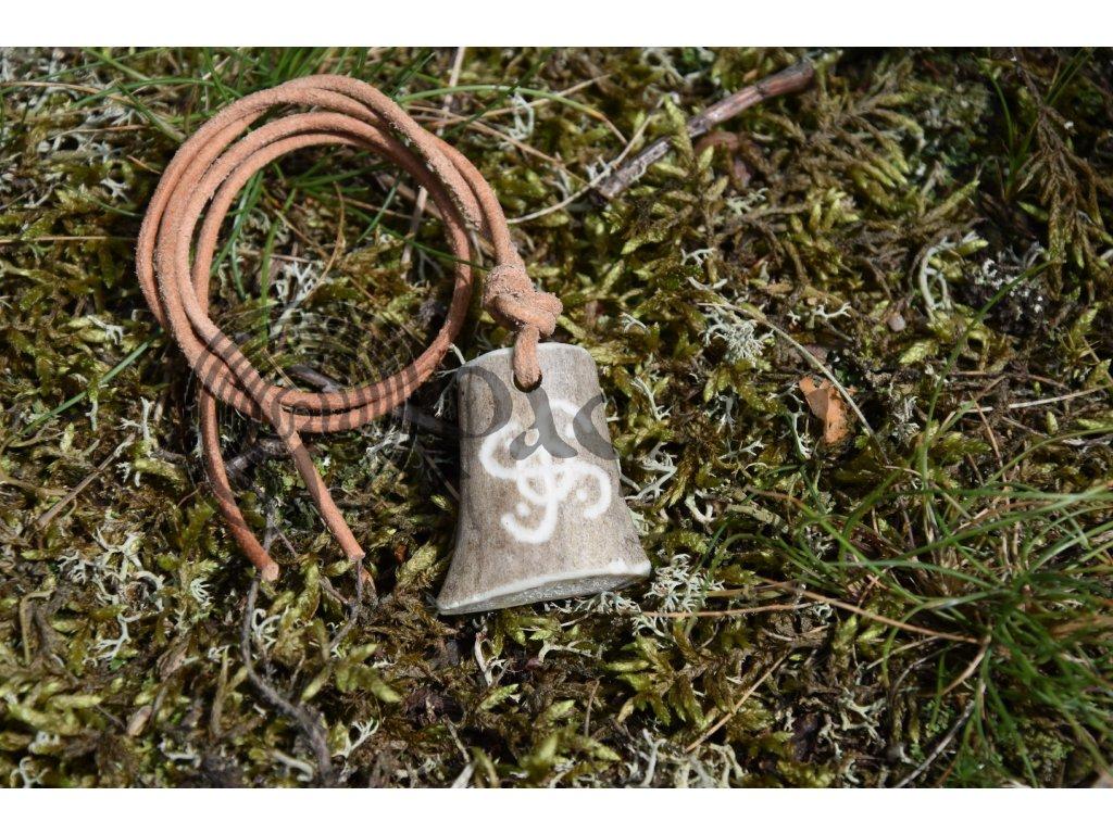 Keltský amulet z paroží ručně rytý Lugh