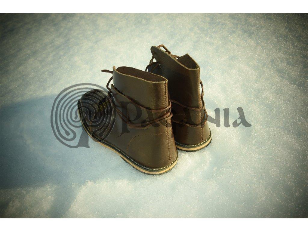 Keltské historické kožené boty. 1051ae42ca