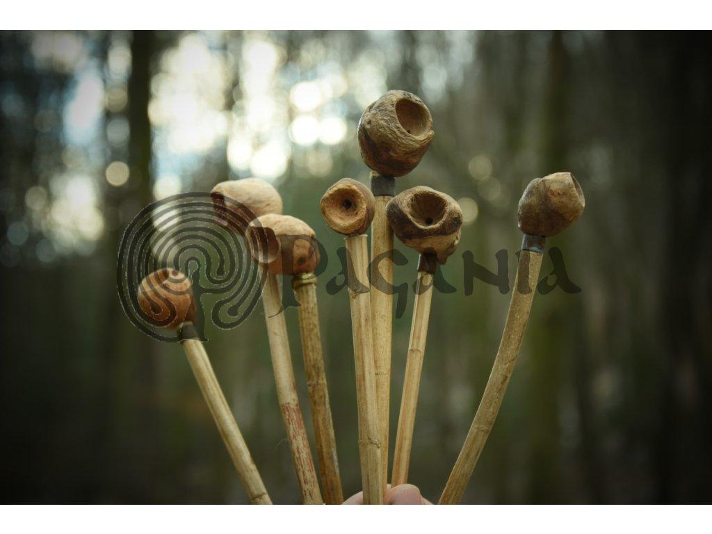 Přírodní dýmka. Historická dýmka pro slovany. Ancient historical slavic pipe. Historical viking pipe.