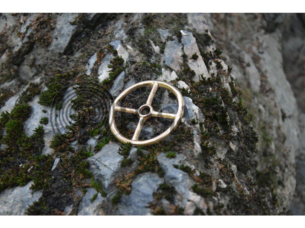 Bronzový amulet Taranisovo kolo - velké, STRADONICE