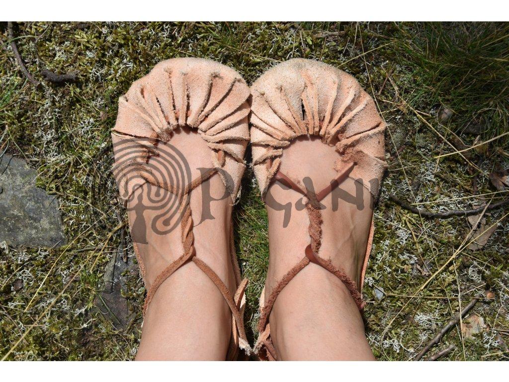 Kožené barefoot letní sandály