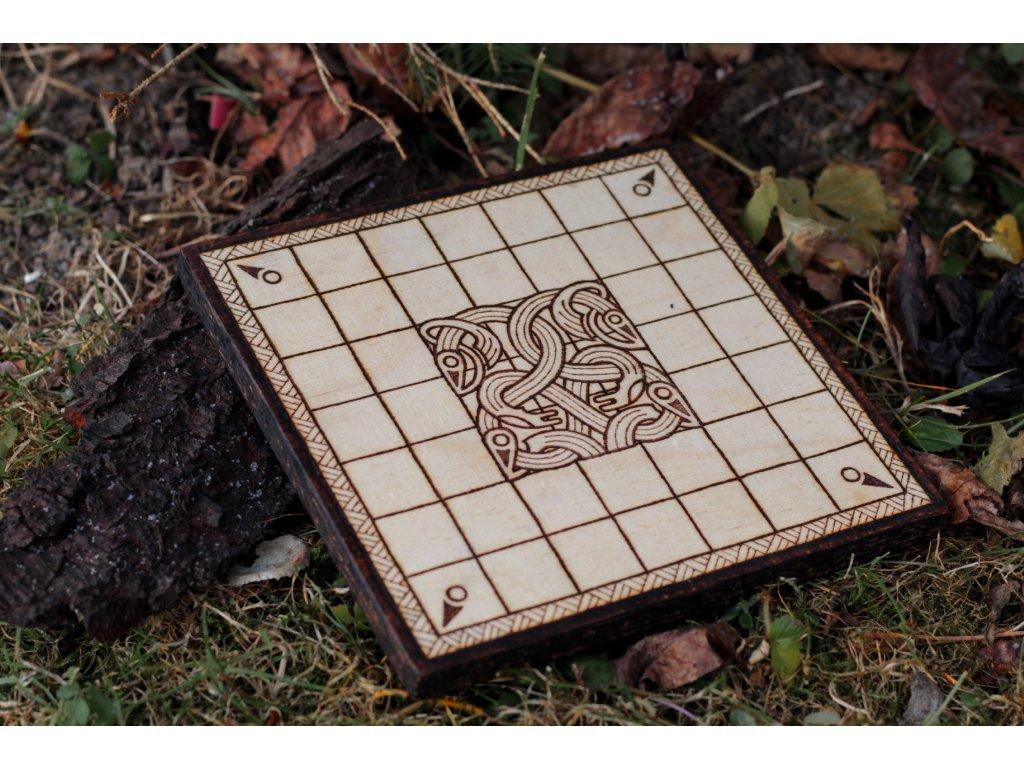 Vikingská desková hra Halatafl Skjaldborg