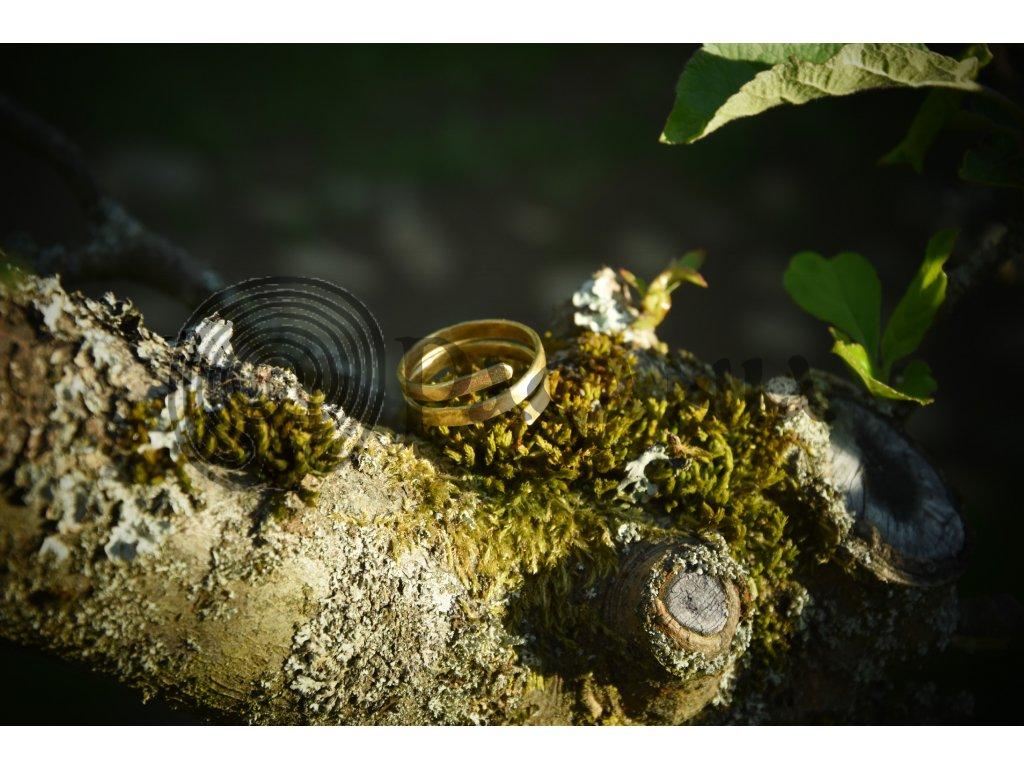 Vikingský prstýnek z mosazi - coil ring. PAGANIA.CZ