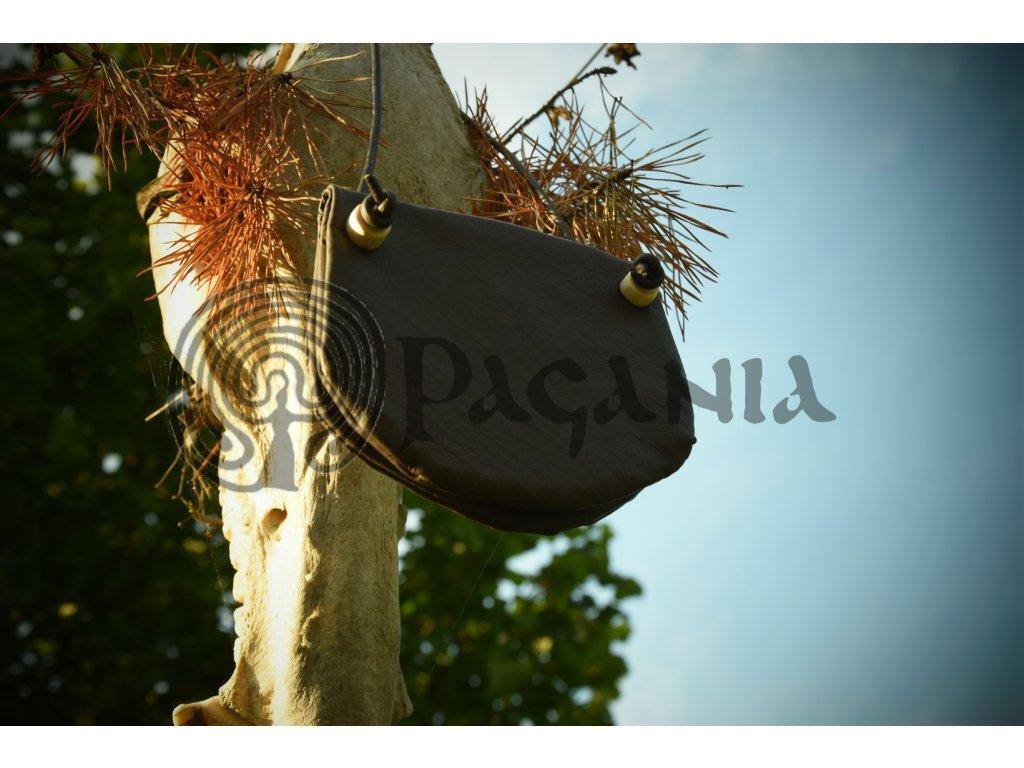 Vikingská peněženka z kůže. Peněženka z Gokstadu.