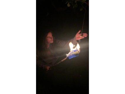 Středověká pochodeň - použití při nočních cestách a výpravách a pro fireshow. Ručně vyrobená