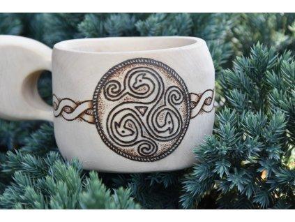 Keltská dřevěná kuksa guksi