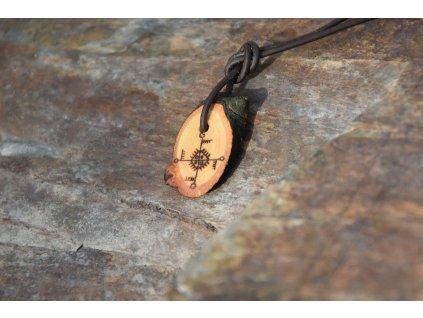 Šamanský amulet dřevěný živlový Siberia