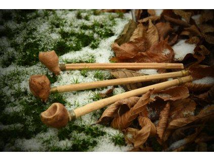 Dýmka pro vikingy. Vikingská dýmka. Viking wooden pipe - hand made.