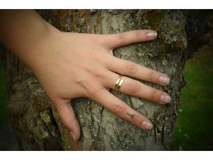 Anglosaský prstýnek z mosazi, ručně vyrobený. Prsten je inspirovaný nálezy z Anglie (Lancashire, Cumbria). Určeno pro anglosasy a kelty. Použitelné pro celý ranný středověk. Dámský středověký prsten.