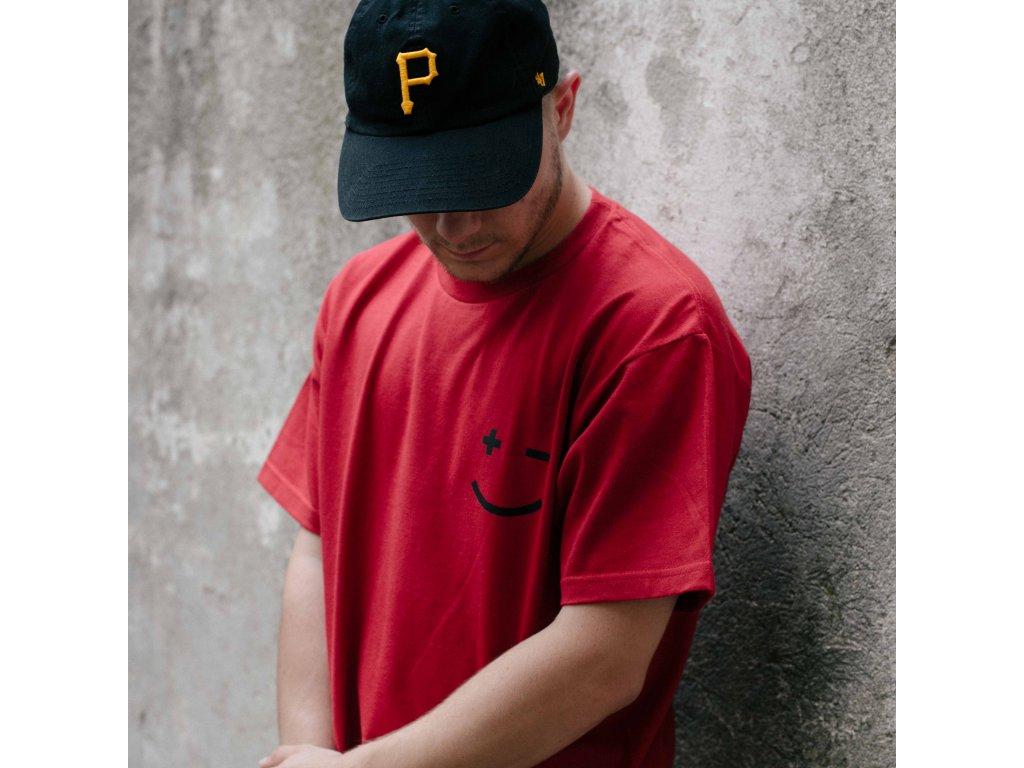 PAIN: KSICHT triko červené