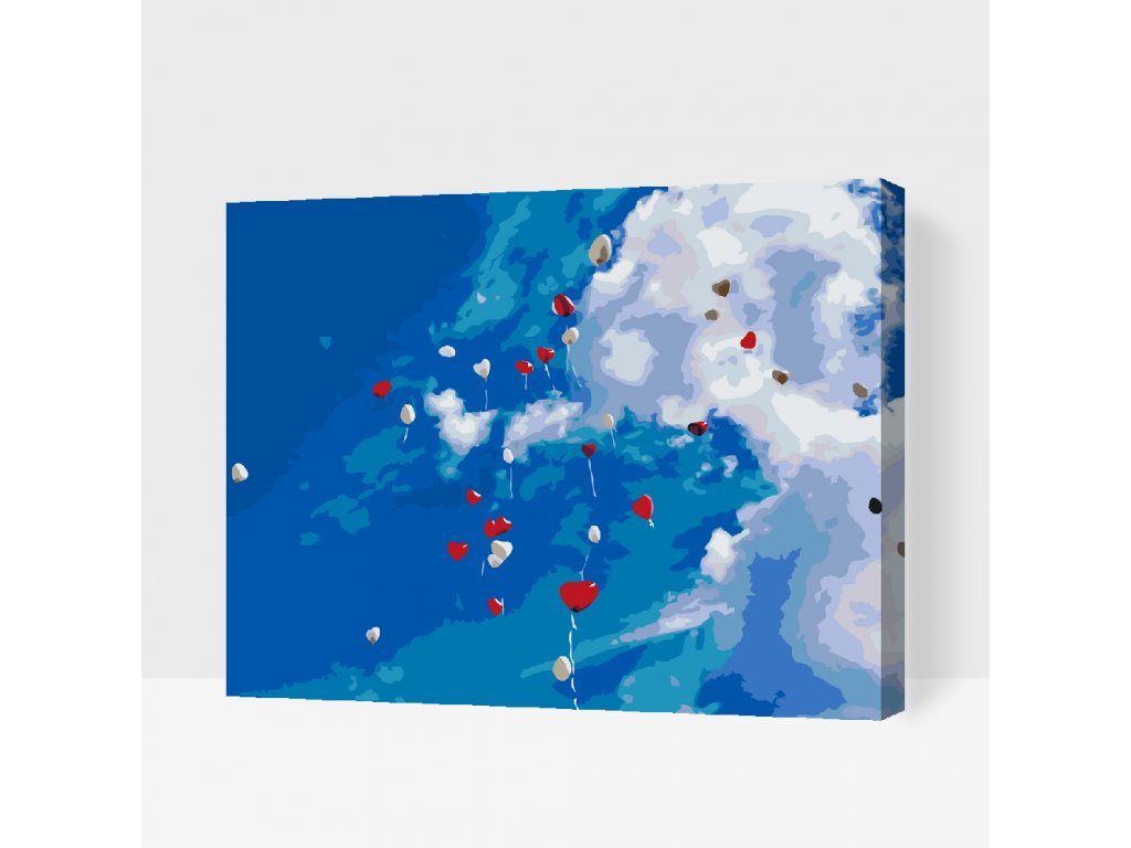PAINT BY NUMBER - THE SKY FULL OF BALLOONS