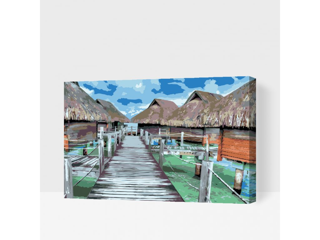 Paint by number - Bora Bora (Frame Without Frame (canvas only), Size 40x60cm (16'' x 24''))