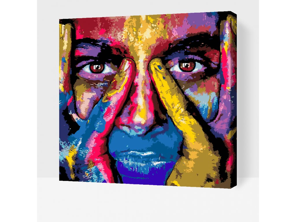 Paint by number - Honest Look (Frame Without Frame (canvas only), Size 50x50cm (20'' x 20''))