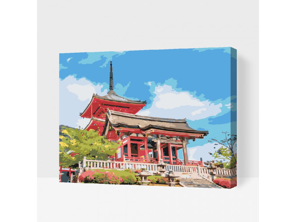 Paint by number - Senso-ji Temple (Frame Without Frame (canvas only), Size 40x50cm (16'' x 20''))