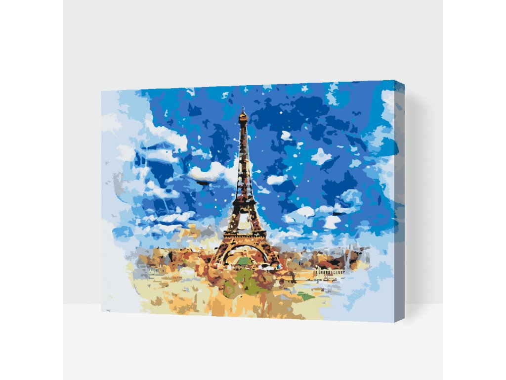 Paint by number - Paris (Frame Without Frame (canvas only), Size 40x50cm (16'' x 20''))