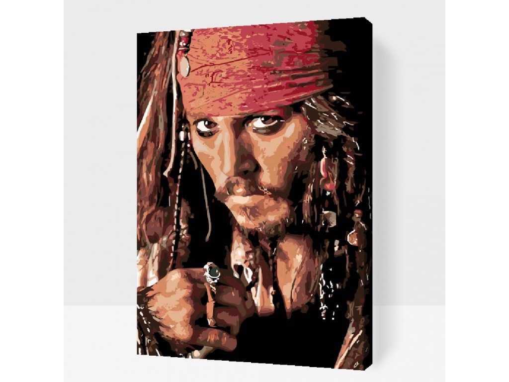 Paint by number - Jack Sparrow (Frame Without Frame (canvas only), Size 40x60cm (16'' x 24''))