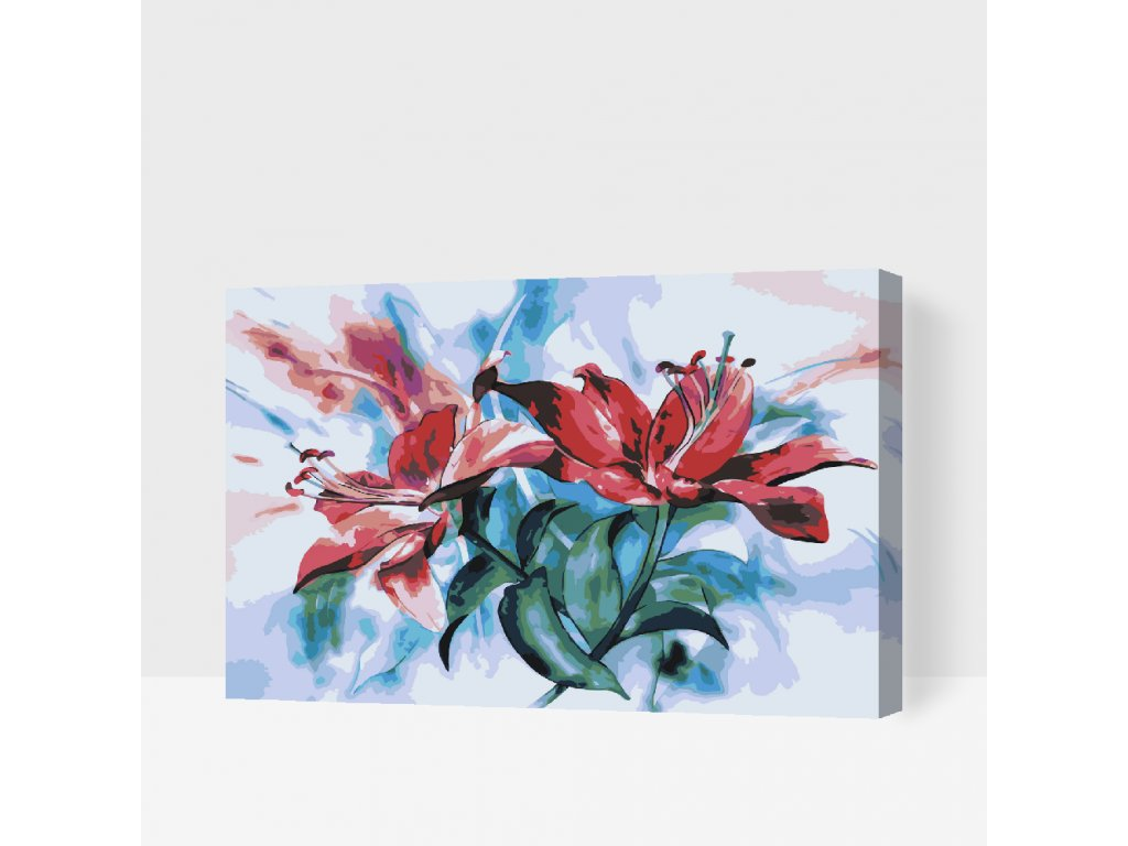 Paint by number - Lilies (Frame Without Frame (canvas only), Size 40x60cm (16'' x 24''))