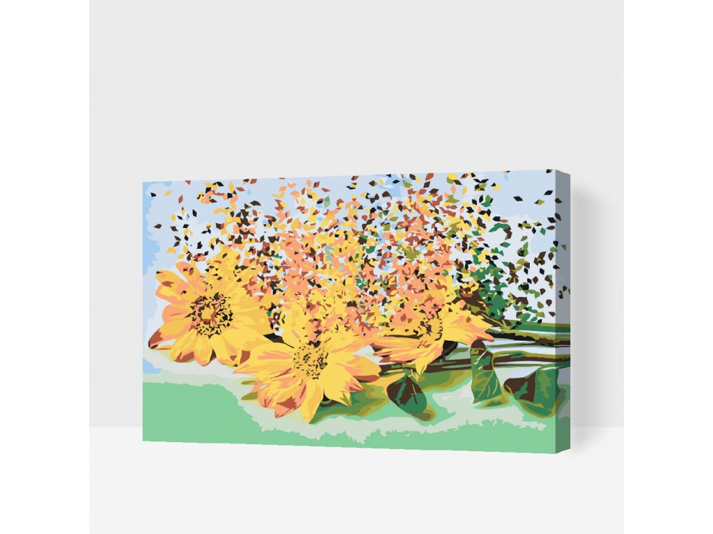 Paint by number - Blown Sunflowers (Frame Without Frame (canvas only), Size 40x60cm (16'' x 24''))