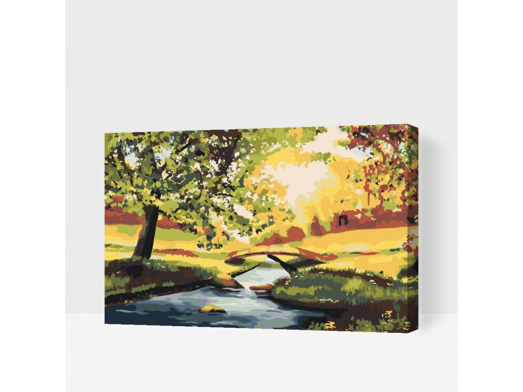 Paint by number - Romantic Garden (Frame Without Frame (canvas only), Size 40x60cm (16'' x 24''))