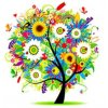 Colorful tree