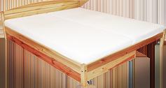 Dvoulůžkové dřevěné postele