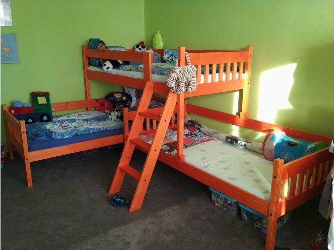 patrová postel pro tři Albert oranžové foto od zákazníka