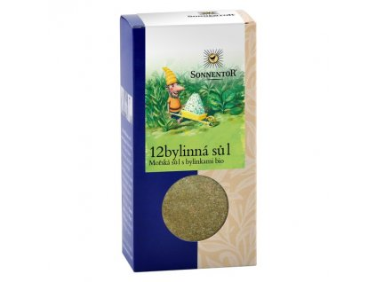 12bylinná sůl mořská sůl s bylinkami bio Sonnentor