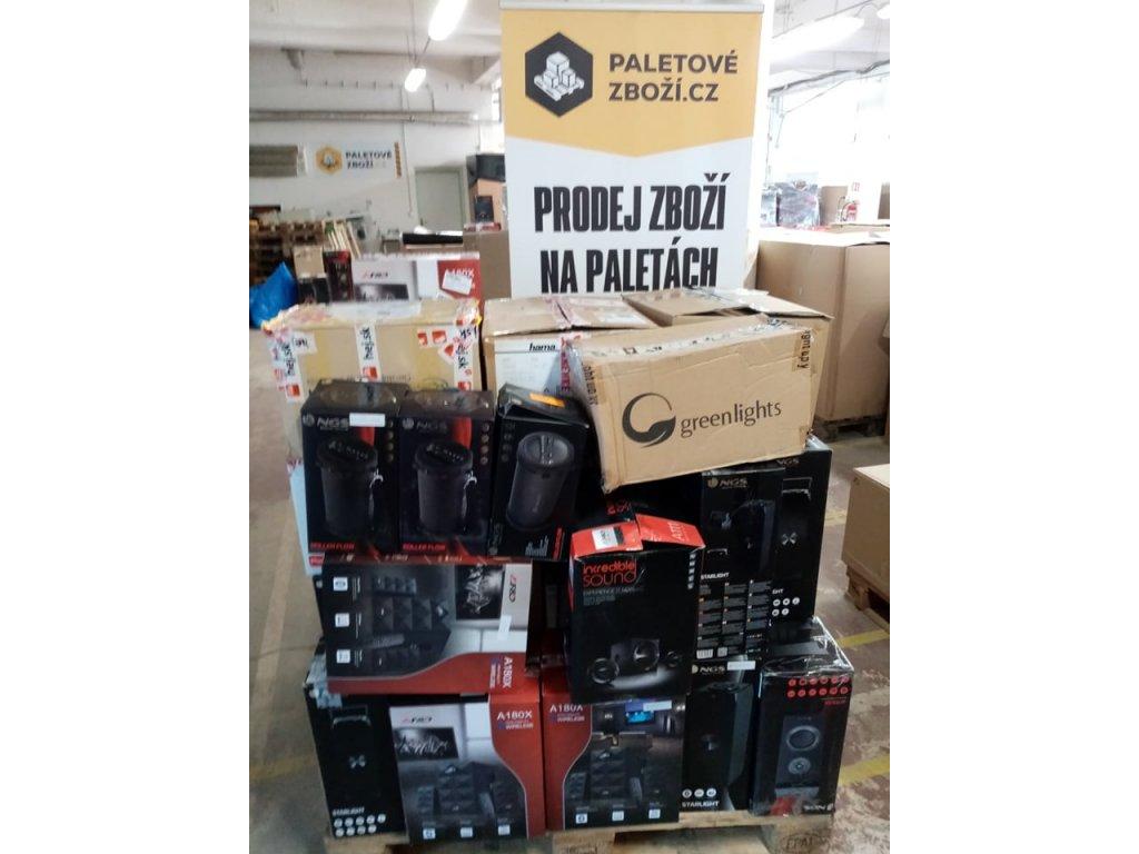 Mix Paleta Audio - Reproduktory, paleta č. 62, ~ 41ks - hodnota zboží 60 500 Kč