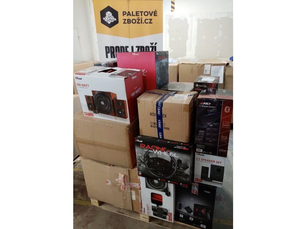 Mix Paleta Audio - Reproduktory, paleta č. 63, ~ 40ks - hodnota zboží 60 500 Kč